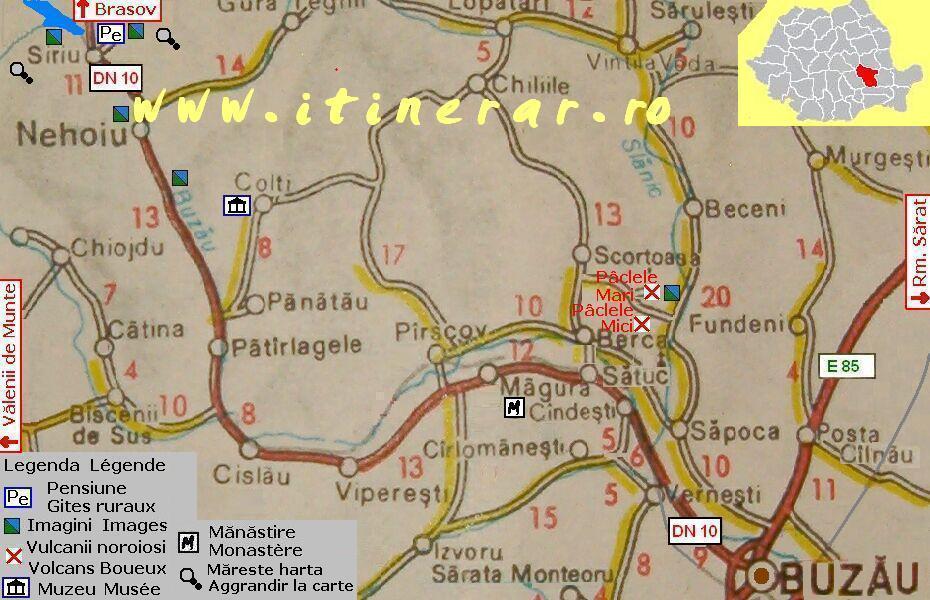 Harta Senzitivă Valea Buzăului Vulcanii Noroiosi Barajul Siriu