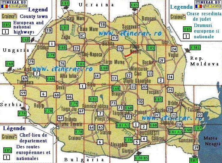 Hartă Drum National Dn12c Gheorgheni Lacu Rosu Bicaz